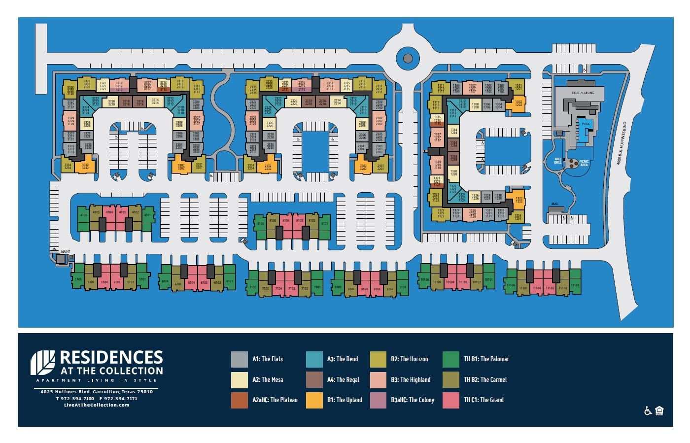 Residences at the Collection Site Plan