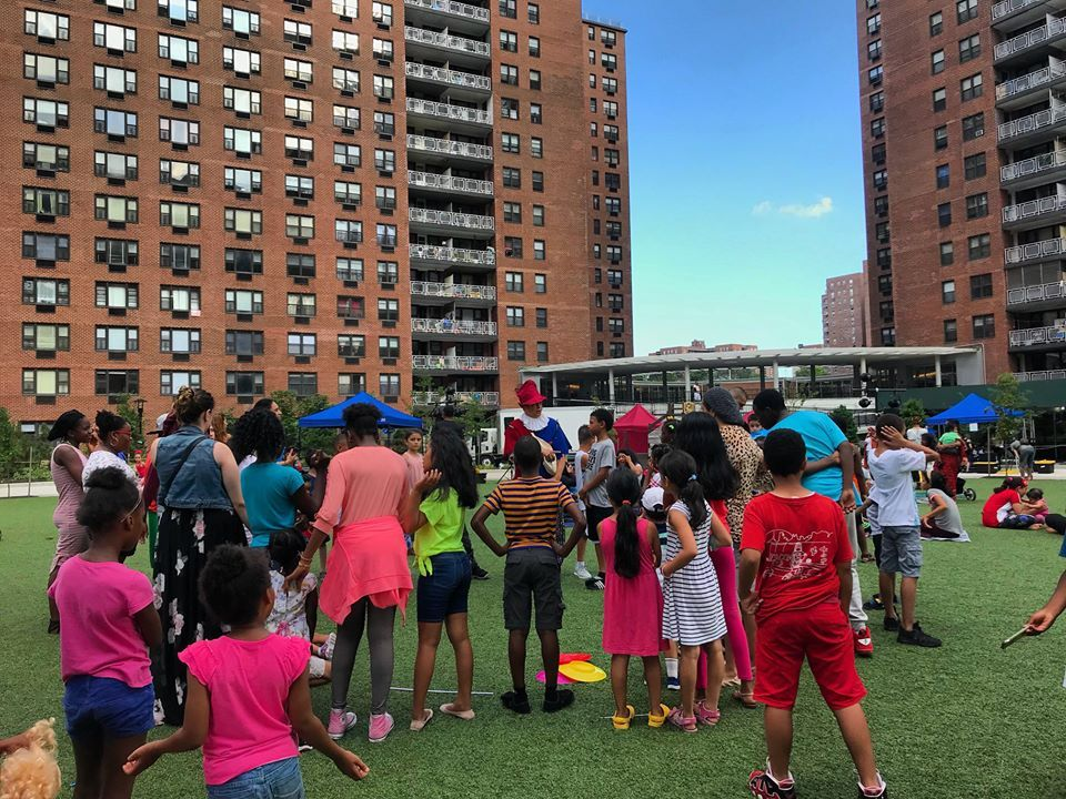Game participants during LeFrak City's Shakespeare in the Park
