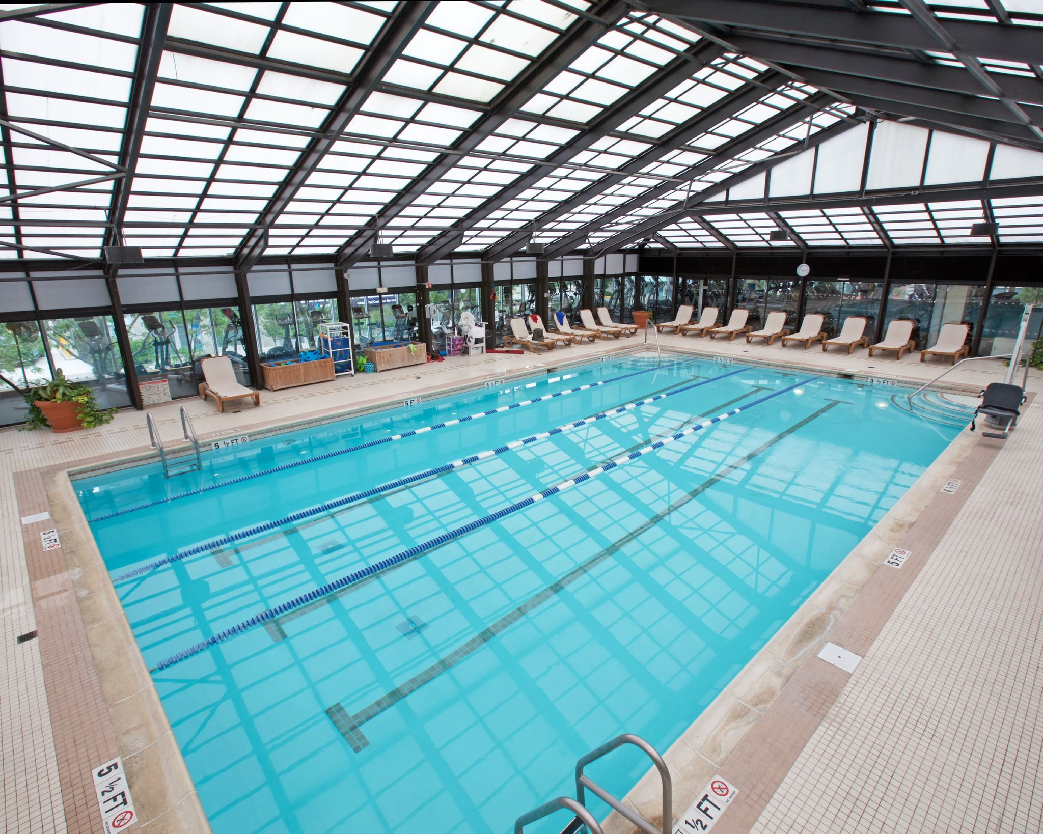 five-lane swimming pool at Newport Swim & Fitness