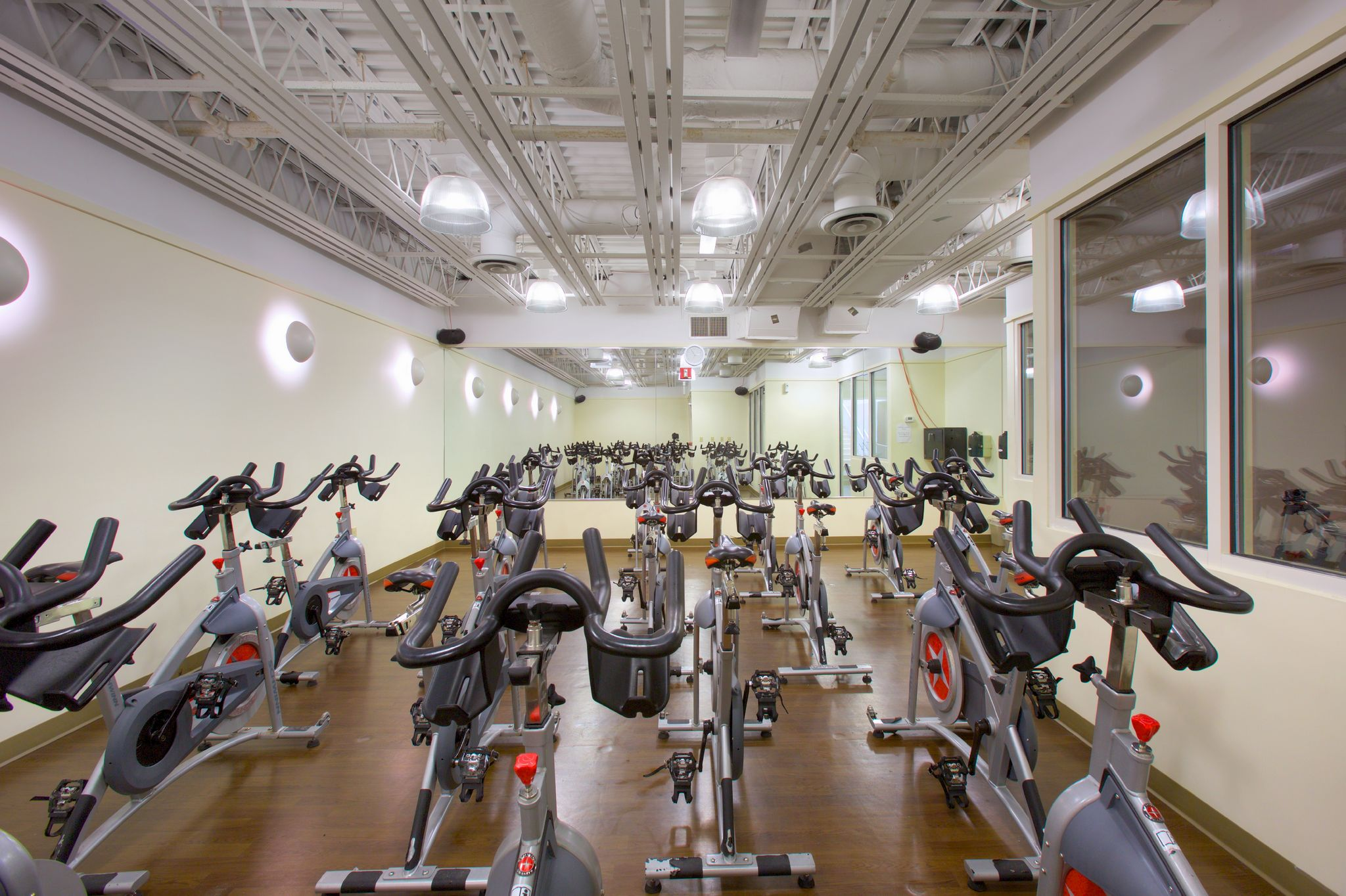 cardio and weight training equipment at Newport Swim & Fitness