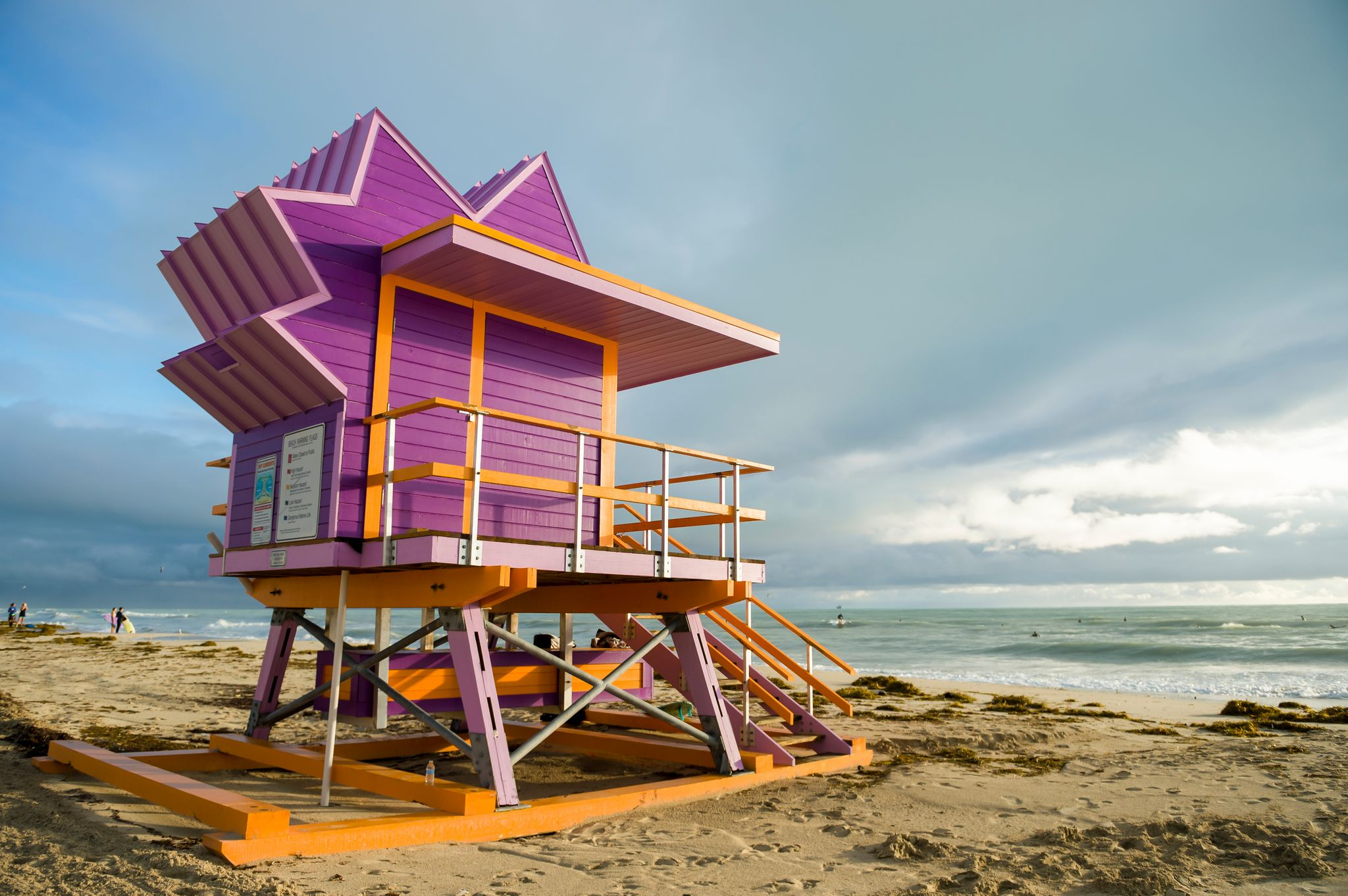 Lifeguard Tower at Lummus Park Beach near The Shoreline at Solé Mia Apartments in North Miami
