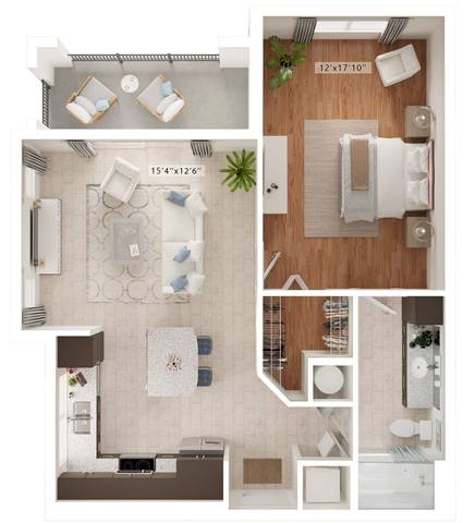 A rendering of the Togano floor plan