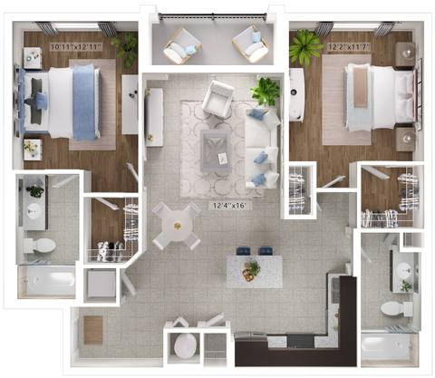 A rendering of the Celeste floor plan