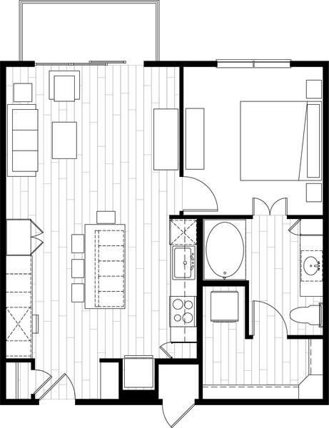 A rendering of the A4 floor plan