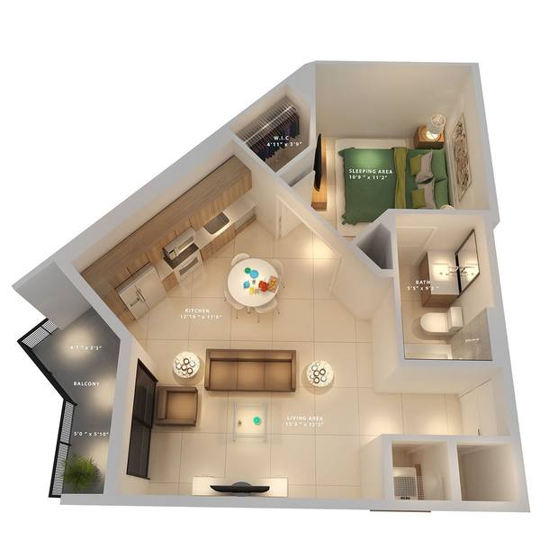 A rendering of the Essex  floor plan