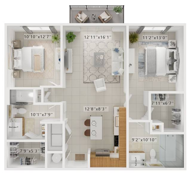 A rendering of the Lowes  floor plan