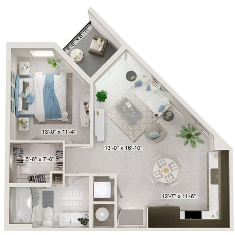 A rendering of the Antheia  floor plan