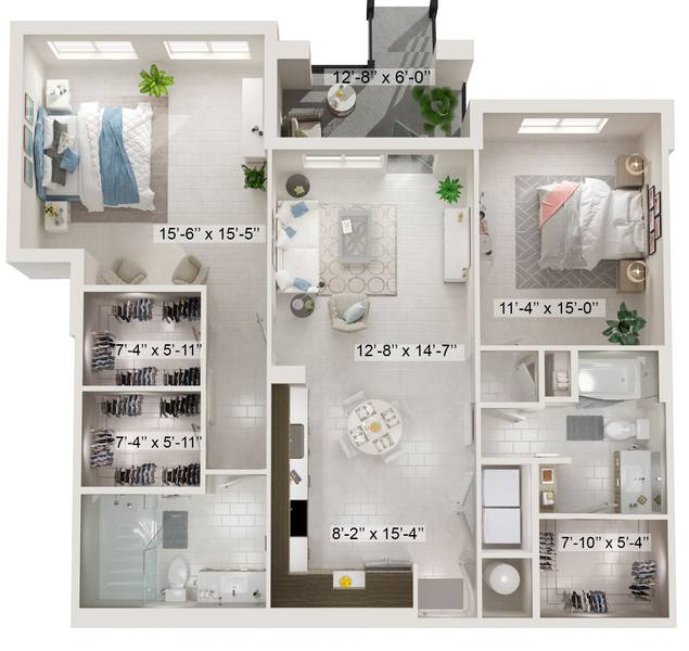 A rendering of the Brentwood floor plan
