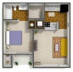 1 Bedroom / 1 Bath